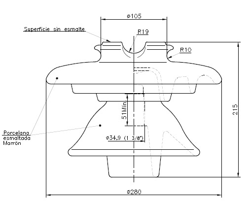 Modelo ALT MN14 ald pin type insulators